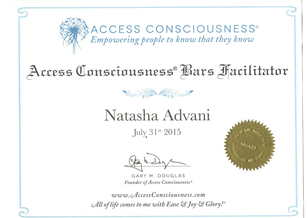 Access Conciousness bar Facilitator