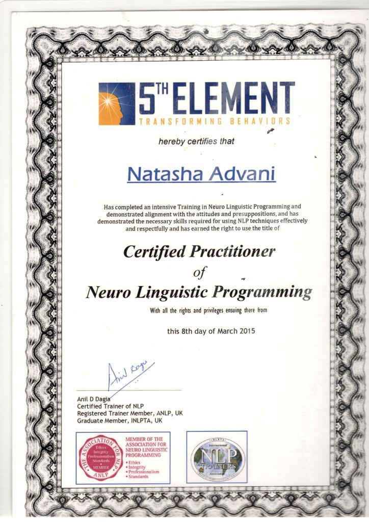 NLP Certified Certificate