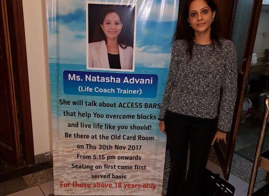 Natasha advani gave a lecture at CCI Club